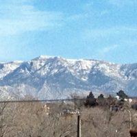 Amtrak Scenic View - the Sandia Mountains near Albuquerque NM